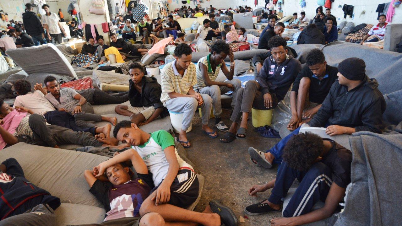 Centre de détention de Zintan en Libye, juin 2019